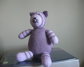 Knitted Striped Cat