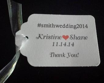 Wedding Tags #wedding Favor Thank You Tags Hang Gift Tag #yourweddingdate