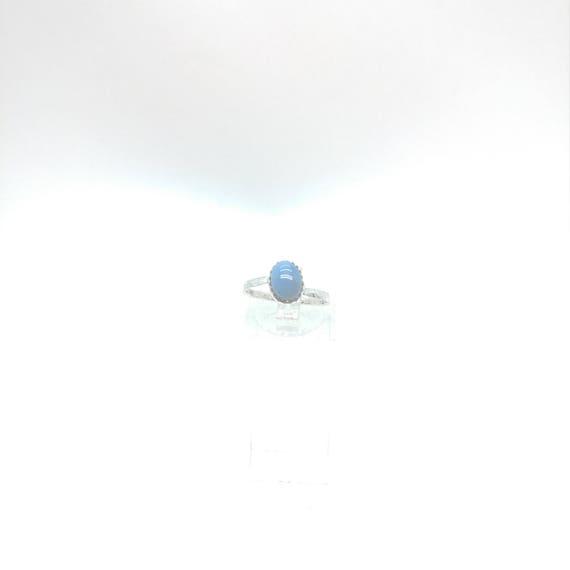 Owyhee Blue Opal Ring | Blue Stone Ring | Sterling Silver Ring Sz 6.5 | Blue Opal Jewelry | Simple Blue Ring | Oregon Opal Jewelry