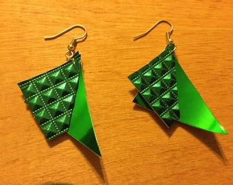 R.I.O.T. Emerald Green Earrings