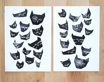 Black Cats Postcards