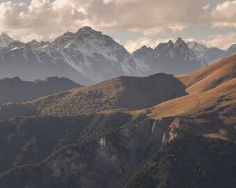 Landscape Photography, Nature Photography, Wall Decor, Georgia, Balkan, Mountain,Sky, Snow, Asia,Europe,Autumn, Sunset