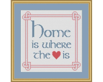 Home is Where the Heart is - PDF Cross Stitch Chart