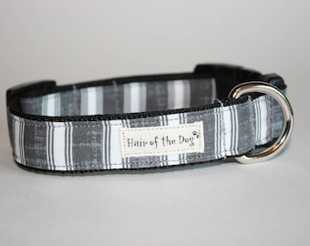 Grey and White Stripe DoG Collar