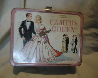 Vintage 1967 King Seeley Campus Queen Metal Lunch Box No Thermos, Lunchkit, collectable