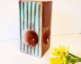 East German ceramic vase VEB Haldensleben 1970s