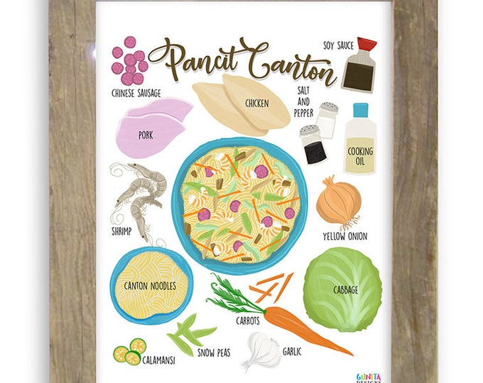 Featured listing image: Pancit Canton Recipe Digital Print