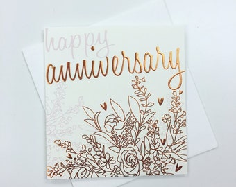 Foiled Happy Anniversary Card