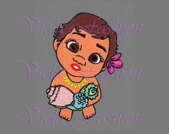 embroidery design Moana Disney Baby Princess pes hus jef colour chart