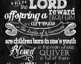 Scripture Art I Timothy 4 12 Chalkboard Print