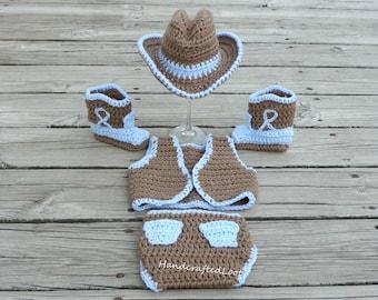 baby cowboy vest outfit, cowboy vest costume,country baby vest,cowboy vest, cowboy hat, country baby outfit, crochet cowboy vest, newborn