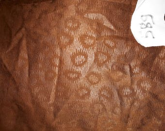No. 589-fabric polyester cotton-skin leather - color Brown-no froissable effect