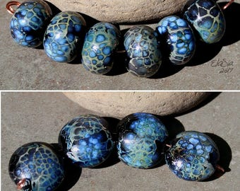 Milky Way - Handmade Lampwork Glass Round Beads - Elasia - MTO - Choose Shape