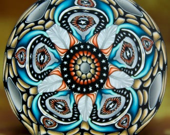 "JUMBO Polymer Clay Kaleidoscope Cane -""Merlin's Garden"" (32dd)"