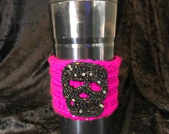 Glitter Skull Coffee Sleeve