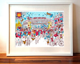 Any one A4 size 'City Celebration', signed QueenKwak Illustration print.
