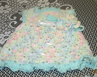 Pastel Pinafore With Headband Size 0-3months