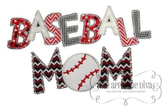 Summer Baseball Mom Digital Embroidery Design Machine Applique From