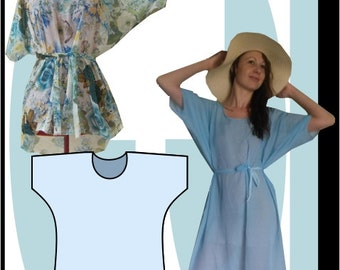 Sewing Pattern: Summer Batwing dress 2 pattern combo