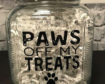 Paws Off My Treats Pet Treat Jar