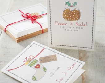 Personalised Charming Christmas Cards