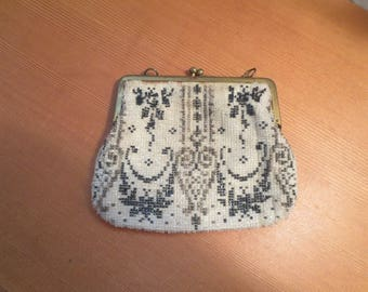 Antique Beaded Purse From 1920s or 30s / AS FOUND /