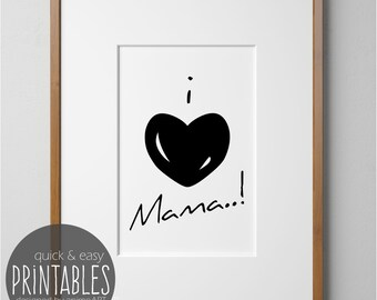 Muttertagsgeschenk, for mom for Mother's Day, gifts for Mother's Day, I love Mama, Deco make yourself, special gifts by AnimoART