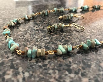 Green Russian Amazonite Nugget Set