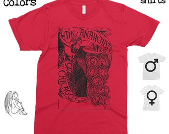 Anarchists of Chicago - Walter Crane  T-shirt, Tee, American Apparel, Art, Illustration, Cute Gift