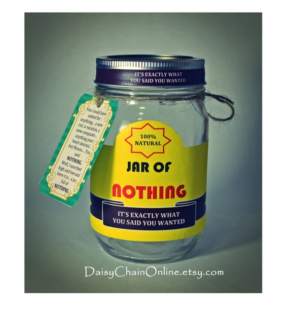 Best gag gift a jar of nothing funny gift for boyfriend like this item negle Gallery