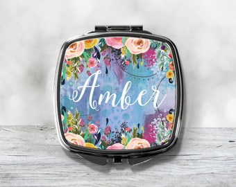 Custom Bridesmaid Gift - Personalized Compact Mirror