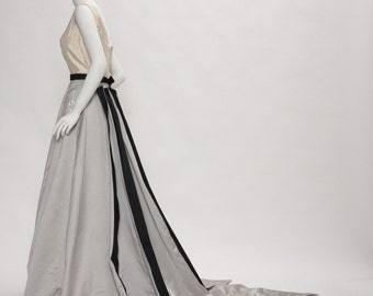 evening gown + train by antonio garcia vintage 1990s • Revival Vintage Boutique