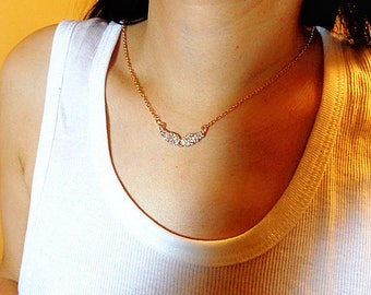 Angel Wing Necklace, Angle Choker Necklace, Birthday Gift, Bridesmaid Gift, Graduation Gift ,crystal  Angel Wing Necklace, Angle Choker