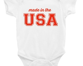 Made in the USA Baby Onesie - 4th of July, Patriotic