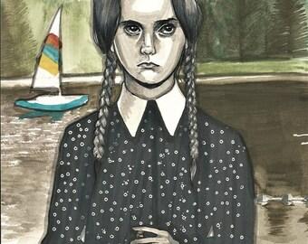 Wednesday Addams // Original Artwork