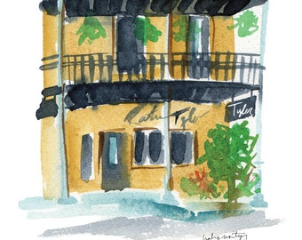 """Starkville Mississippi Restaurant Print -- Restaurant Tyler 8 x 10"""""""