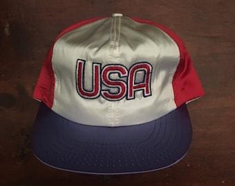 Vintage USA United States Trucker Hat Snapback Baseball Cap