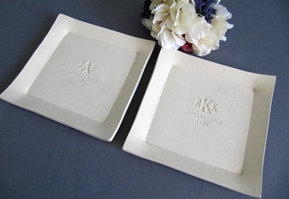 Unique Parent Wedding Gift Ideas: Parent Wedding Gift Set Of Personalized Platters Gift