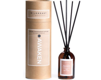 Organic Aromatherapy diffuser - NYC Apothecary style diffuser with essential oils of Lemongrass, Lime & Patchouli