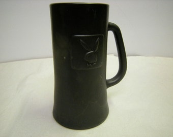 playboy mug-bar-man cave-collector-bunnies-shelf display-black mug-