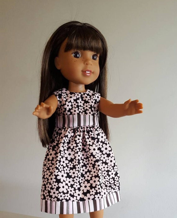 Brown with Pink Flowere for the 14.5 Inch Doll Like Wellie Wishers