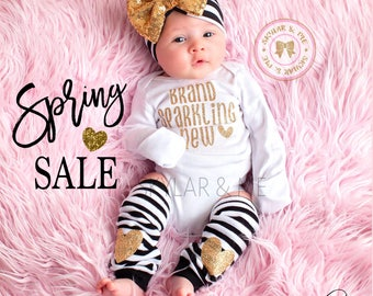 BRAND SPARKLING NEW®, Newborn Girl Coming Home Outfit, baby coming home outfit, coming home outfit girl, baby girl outfit coming home outfit