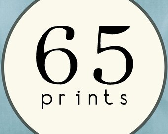 65 PRINTS - SINGLE SIDED Printed Invitations Cards - 86441023