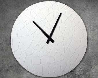 GROßE Weiße Uhr Leaf Wohnkultur Einzigartige Wanduhr, Moderne Wanduhr  Office Decor, Green Clock, Clock Orange, Weiß Und Gold Hochzeit Geschenk