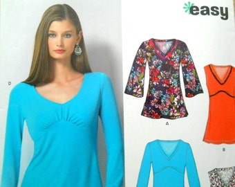 New Look 6753, uncut sewing pattern, knit top and tunic, misses' sizes 6-16