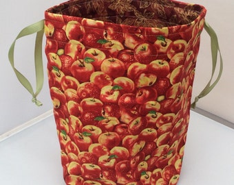 Apples - drawstring projectbag