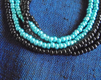 Special order multi-strand Czech beaded necklace
