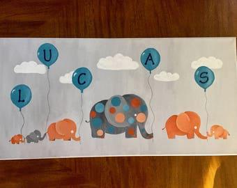 Birthday celebration with elephants.