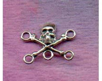 Skull Crossbones Sterling Silver Component Station Finding Jolly Roger IP002Y