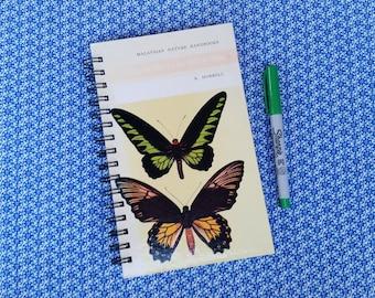 Butterflies, Recycled Book Journal, Notebook